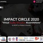 Untuk Pertama Kali AIESEC President University Sukses Gelar Virtual Impact Circle 2020